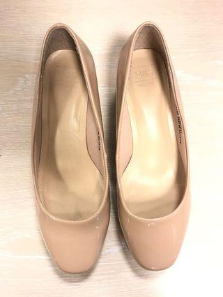 Mark&Spencer Nude Block Heels (Women)