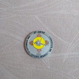 27 AMXS coin from Cannon AFB, New Mexico