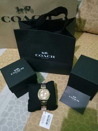 Coach Luxury gold original watch