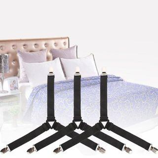4pcs Adjustable Triangle Corner Clips Grippers for Bed Sheet