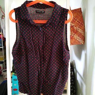 Cotton On Belle Sleeveless Shirt Heart Print