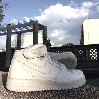 🚚 Nike air force 空軍一號 高筒 魔鬼氈 小白鞋