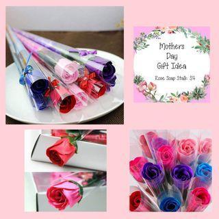 Mothers day rose soap stalk
