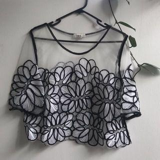 Sheer flower top