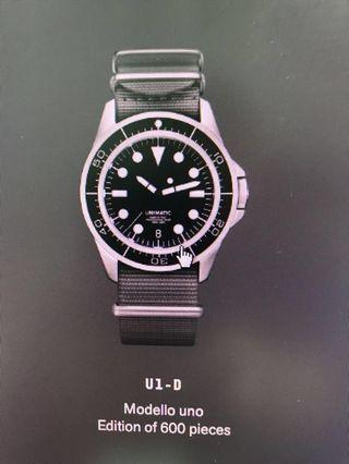 Unimatic U1-D limited 600 pcs made in Italy not Rolex Panerai IWC