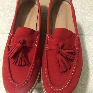🚚 D+af 紅色流蘇鞋 大尺碼 d af
