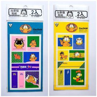 加菲貓絶版貼紙 一套兩張 全新 可面交或郵寄