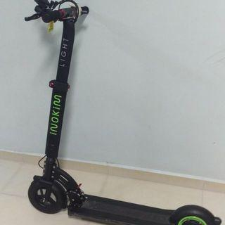 Inokim Light Low Usage Green Word With Black Body  Come Free Phone Holder And Charging Plug Low Speed At 12km/h High Speed At 20km/h