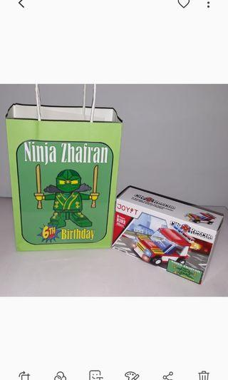 Customised Ninjago Goodie Bag
