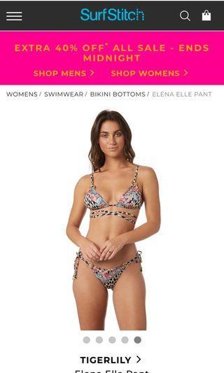 BNWT tigerlily eden leopard bikini