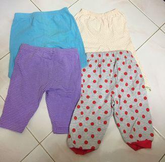 4 pieces quater pants