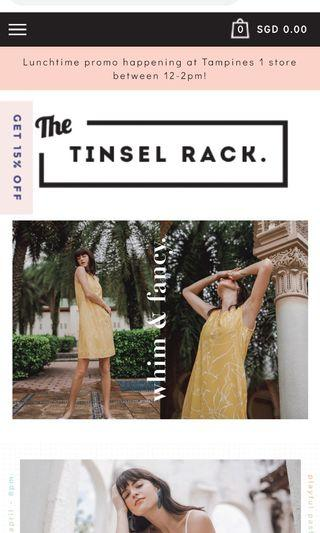 The Tinsel Rack 15% discount ttr