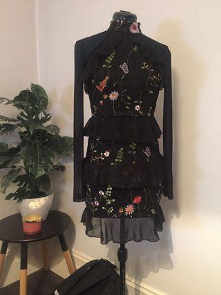 Brand new (no tags) mini floral embroidery dress