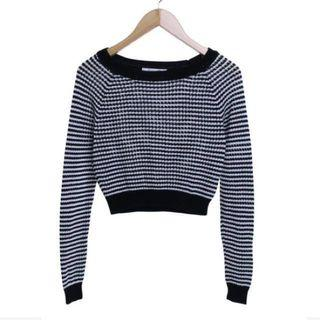 Black n White Knit Sweater forever 21