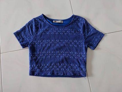 Blue crochet crop Top #EndgameYourExcess