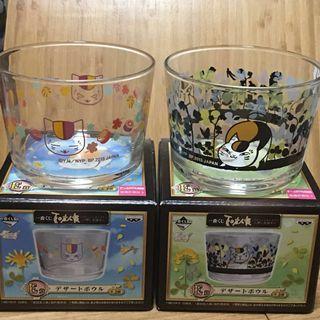 夏目 友人悵 一對 甜點杯 Sake 清 酒杯 湯碗 水杯 一番 E 賞 貓 咪 貓 老師