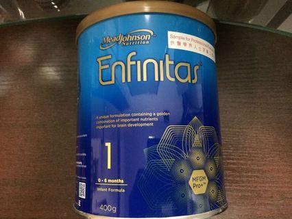美贊臣 enfinitas 藍罐 1號 400克 初生 安嬰兒 藍罐 安嬰寶 dha 平均車 三輪車 尿片 嬰兒車 奶嘴
