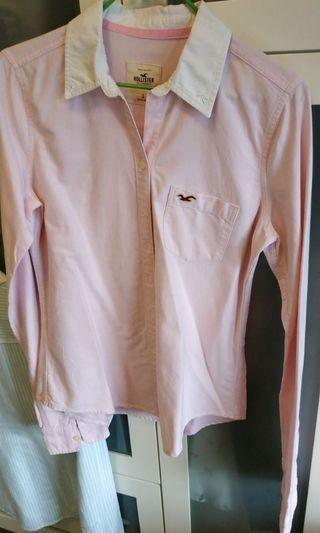 Hollister 淺粉紅恤衫
