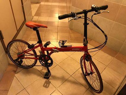 OYAMA 紅色 摺合單車