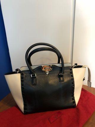Valentino Small Rockstud Top-Handle Bag