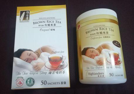 TEH BERAS MERAH HIGHLANDERS / BROWN RICE TEA /红糙米茶(50sachets)