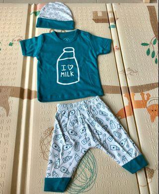 🚚 I love Milk- Baby Boy Tee & Pants- 9-12 months
