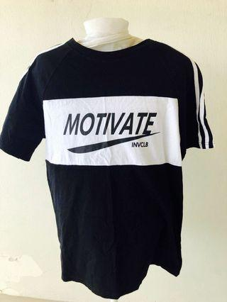 Black Cotton Tee Shirt T-shirt Slogan Sports Tee