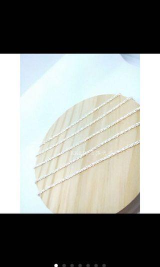 🚚 香港正生純銀飾-滿天星腳鏈