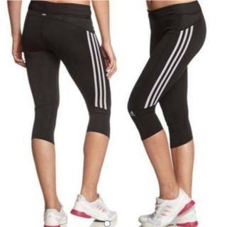 Adidas Women's Response 3/4 Tights - Black/White Size : S