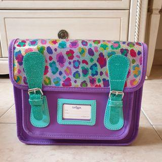 Smiggle Lucy Satchel Backpack Bag Purple Hologram