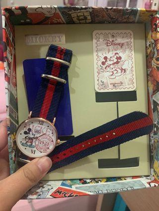 Disney 米奇 帆布 手錶
