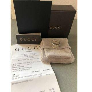 New Genuine GUCCI Wide Band Interlocking G Ring in Sterling