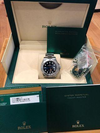 Rolex遊艇藍面紅針-116622