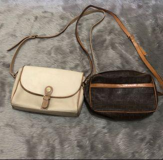 Liz Claiborne and Fion sling bags