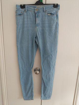 High waisted Light blue denim jeans