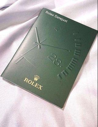 *In stock* Rolex Datejust Booklet
