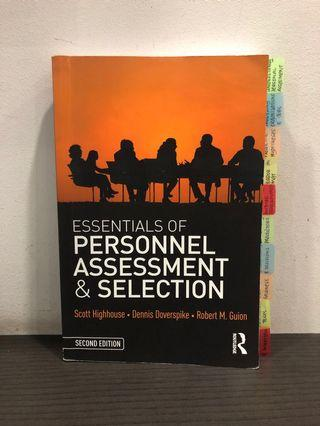 Essentials of Personal Assessment & Selection