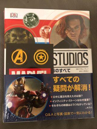 Marvel studio Avengers 大百科日文版送特別版貼紙