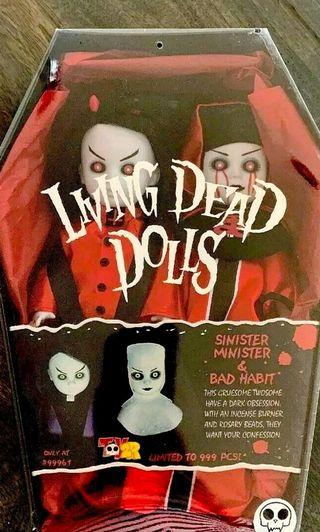 全球限量666隻Living Dead Dolls LDD  Sinister Minister Bad Habit Red Version 活死人娃娃