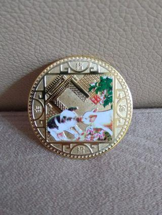 2019 Year of the Pig Zodiac Coin