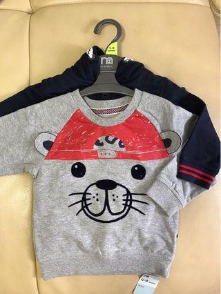 🚚 18-24mths Baby boy kid sweater & jacket set