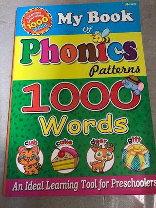 🚚 My Book of Phonics Patterns 1000 Words
