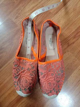 Authentic Valentino orange lace slip-on (size 36)