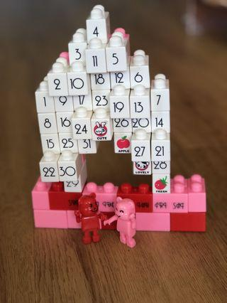 🚚 DIY calendar bricks bear figurines (model:romantic church model)  #ENDGAMEyourEXCESS