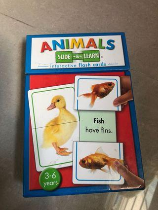🚚 Flash Cards Animals Slide & Learn