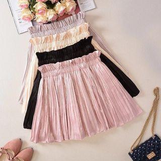 Adorable Pretty Feminine Pleated Flare Short Skirt