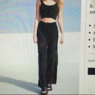 BRANDY MELVILLE BLACK ALEXAH PANTS