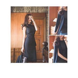 Women Korean Slim Fit Formal Office Midi Dress