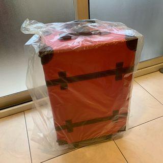 全新品 日本 Crystal ball 頭狗包 仿皮質行李箱