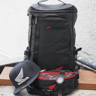 Backpack💞 YAMAHA / HONDA 4 IN 1 💞  ▪Gred 3A ▪Waterproof   🔼Estimate Time Arrival (SM) 2-3 working days (SS) 3-4 working days  🔼Tracking No. Will be given 1-2 days after payment (next working day)